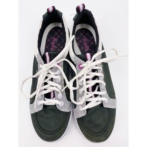 Keds Black and White Canvas Sneakers Size 6.5